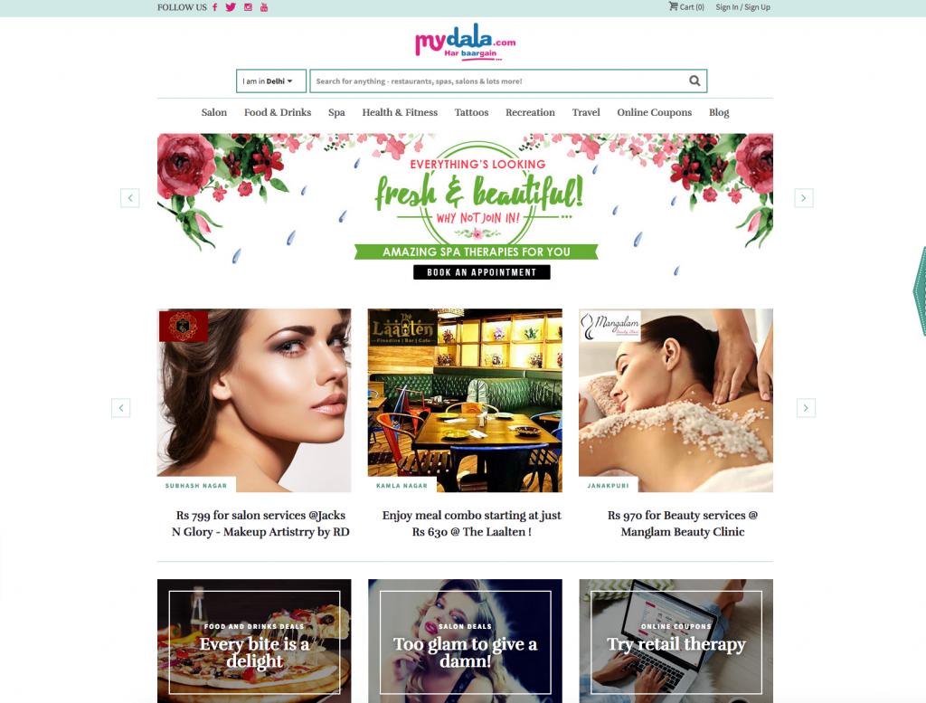 Webseite mydala